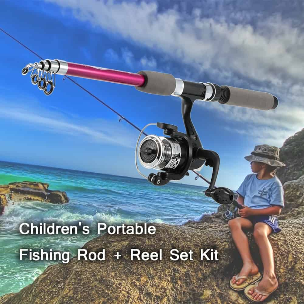 Kids Fishing Rod With Fishing Reel For A Fun Day