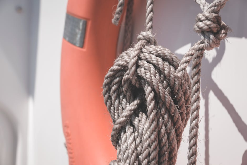 A close up of a rope