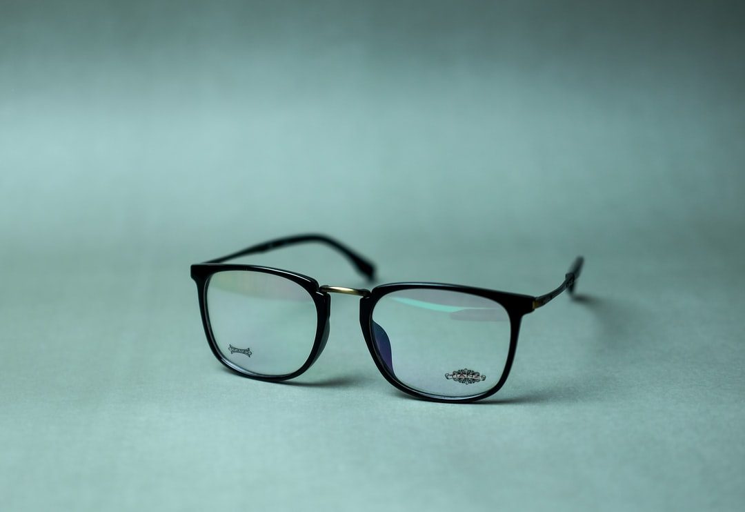 A pair of glasses on a table